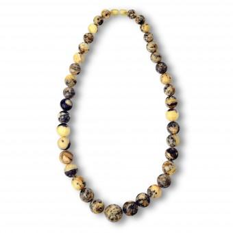 """Motley Imagination"" Amber Beads"