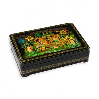 "Lacquer Box ""Seven Athlets"" Palekh"