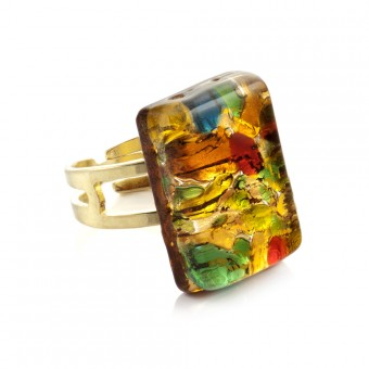 """Kandinsky"" Murano glass ring"