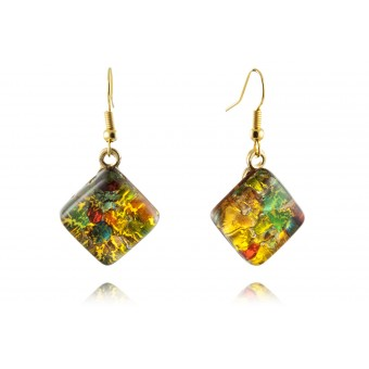 """Kandinsky"" Murano glass earrings"