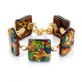 """Kandinsky"" Murano glass bracelet"