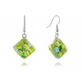 """Monet"" Murano glass earrings"